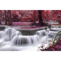 Adults 1000 Pieces Red Tree River Water Puzzle New Arrival 1000 Pieces Of Wooden Educational Toys Gift