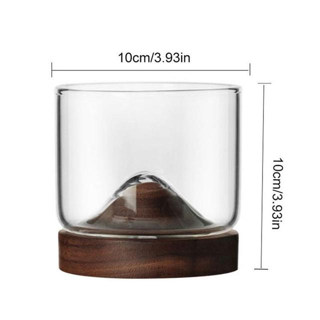 Whiskey Small Glass Cup Japanese StyleGlass Unique Design Elm Black Walnut Bottom High Temperature Resistance Wine Glass 2