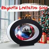 3Magnetic Levitation Geography Globe Floating Tellurion World Map LED Light Earth Terrestrial Kids Gift Children Education Toy