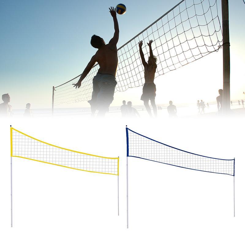 Filet de Badminton portatif d'entraînement de Volleyball de Sports extérieurs d'intérieur de filet de Badminton Standard avec le poteau de support pour l'herbe de plage