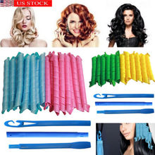 18 Pcs Magic Long Hair Curlers Curl Formers Spiral Ringlets Leverage Curlers Hair Curler Hairdressing Tool цена