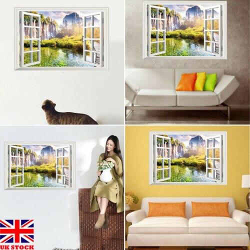 100 X DIY Star 3D Window Removable Luminous Wall Stickers Art Decals Decor Mural
