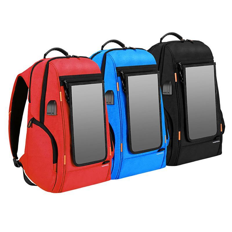 Sac à dos solaire 7 W panneau détachable étanche charge solaire voyage sac à dos Camping alpinisme d'urgence sac à dos