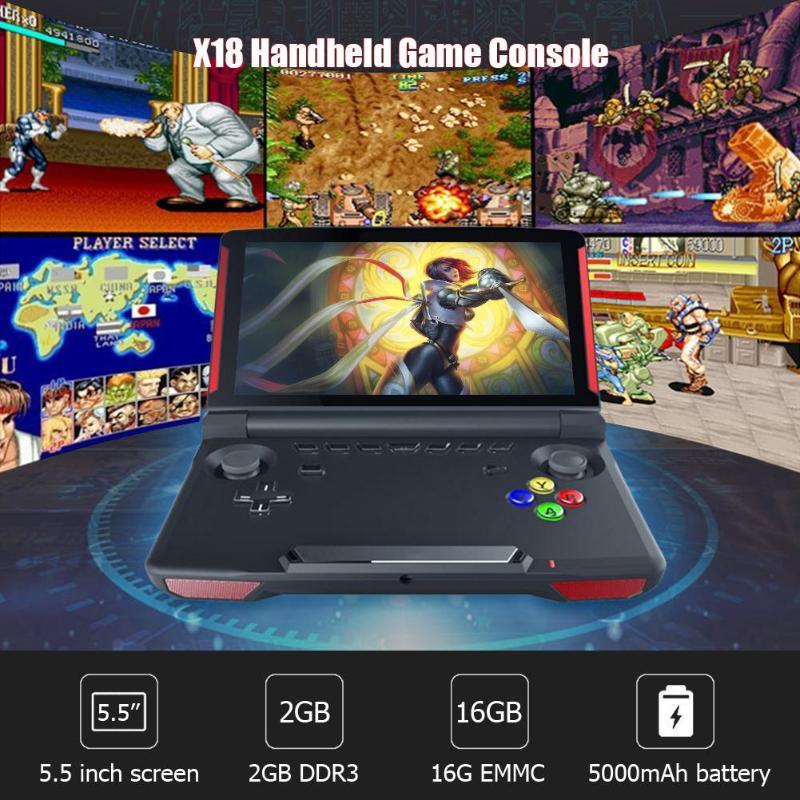 X18 5.5 pouces écran tactile Andriod lecteur de jeu portable Bluetooth 4.0 joueur de jeu 32 GB Mini Console joueurs de jeu livraison directe
