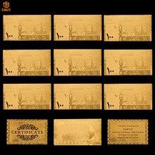 10 adet/grup suudi arabistan dünya para birimi 100 Riyal altın banknot çoğaltma kağıt para koleksiyonu