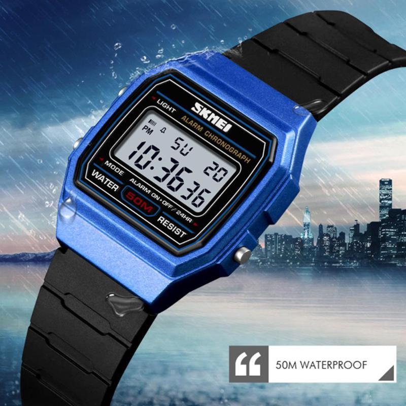 SKMEI NEW Waterproof Sports Watches Kid Boys Girls Luminous PU Strap Wristwatch Clock Digital Watches Relogio Children Watch
