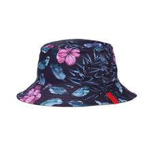 a5612622 1 pc Bucket Hat Reversible Double-sided Cotton Printed Fisherman Hats Casual  Sunhat Summer Spring Caps for Men Women