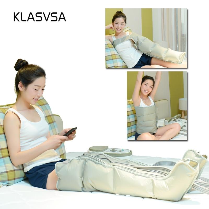 KLASVSA eléctrico de compresión de aire pierna pie masajeador vibración terapia brazo cintura neumática aire envuelve relajarse alivio del dolor