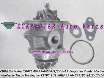 Livraison gratuite Turbo cartouche CHRA TD02 49173-06500 49173-06503 49173-06501 pour OPEL pour Vauxhal Astra Corsa Combo Meriva Y17DT 1.7L