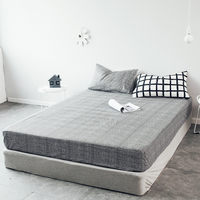 LAGMTA 1pcs 100%Cotton Black & White Fitted Sheet Mattress Cover Four Corners With Elastic Band Bed Sheet 75