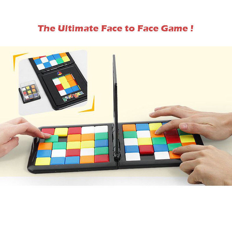 Puzzle Cube 3D Puzzle Color Race Cube Board Game Kids Adults Education Toy Parent-Child Double Speed Game Magic Cubes