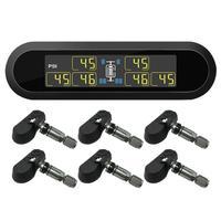IP67 waterproof ABS black Careud T650 solar TPMS wireless tire pressure monitor with 6 internal sensors automatic alarm