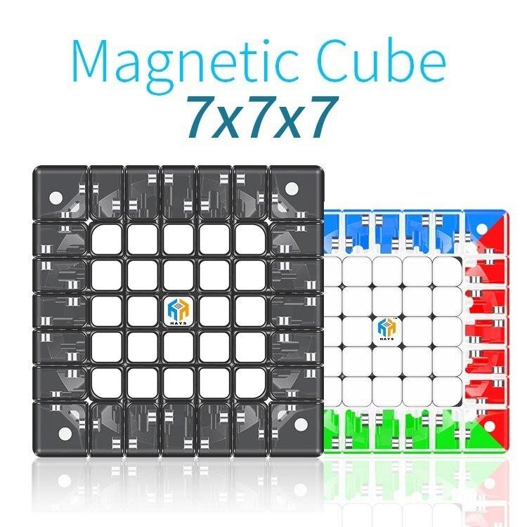 Yuxin Hays 7x7x7 Cube magnétique vitesse magique 7x7 Cube Oringal Cube aimants professionnels Puzzle Cubo Magico 7*7 jouets pour enfants - 2