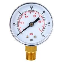 Новый Манометр низкого давления 50 мм диаметр 0 15 psi 1 бар