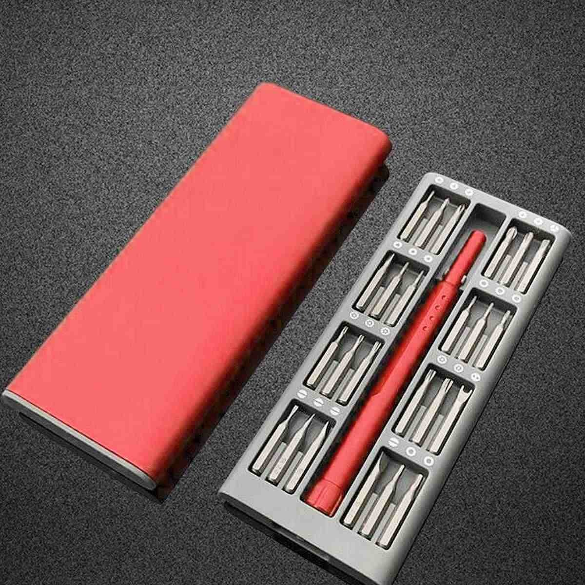 Xiaomi Mijia Wiha Daily Use Red Mini Screwdriver Kit 25 Precision Magnetic Bits Box Screw Driver xiaomi Smart Home Set Tools