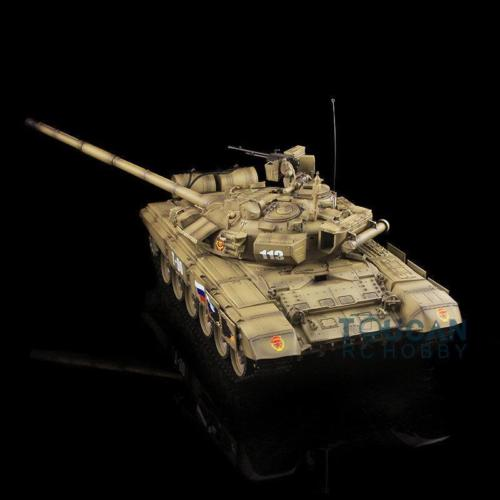 HengLong 1/16 Scale Russian T90 RC Tank 3938 Upgraded Metal Ver Tracks Yellow