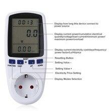 ЕС цифровой ваттметр измеритель мощности счетчик энергии измеритель напряжения ваттметр анализатор мощности электронный счетчик энергии измерительная розетка