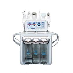 6 в 1 Ультразвуковая щетка для кожи H2O2 вода чистка лица Гидро Машина для дермабразии лица