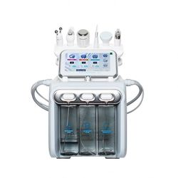 6 in 1 ultrasone huid scrubber H2O2 water gezicht reiniging hydro dermabrasie facial machine