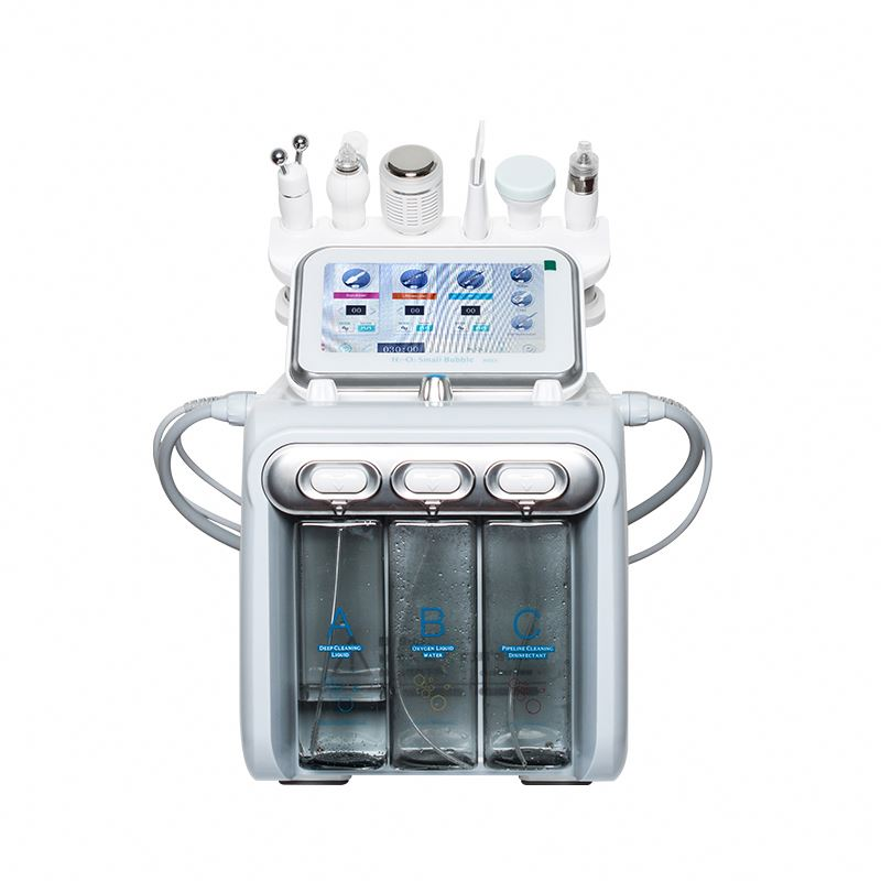 Top Quality H2-O2 6 In 1 H2O2 Hydra Peel Equipment Hydro Toning Water Dermabrasion Aqua Peel Beauty Machine