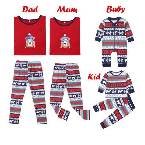 Navidad Familia Pijamas A Juego De Adultos Mama Y Papa Ninos Bebe