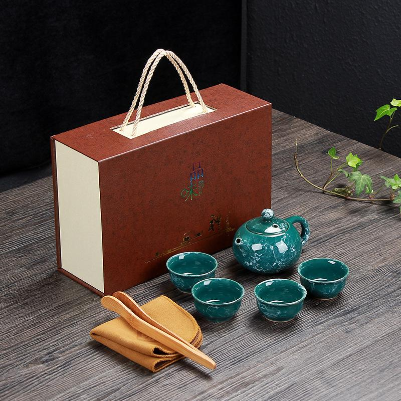 Chinese Kung Fu Tea Set Portable Teaware Ceramic Teapot Teaset Gaiwan Cup Of Ceremony Pot Traveller Gift