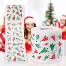 Рождественские товары, печатная туалетная бумага, Санта Клаус, олень, гостиная, туалетный рулон бумажных салфеток, Рождественский Декор для дома