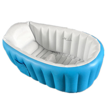 Baby Bath Tub Kids Bathtub Portable Inflatable Cartoon Thick