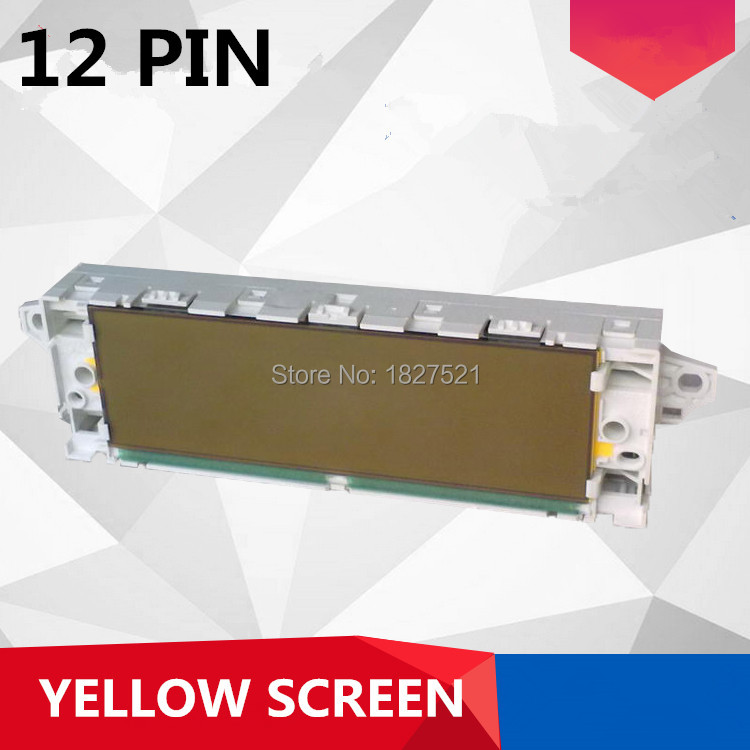 White Shell yellow screen 12 Pin Support USB Dual zone Air Bluetooth Display monitor for Peugeot