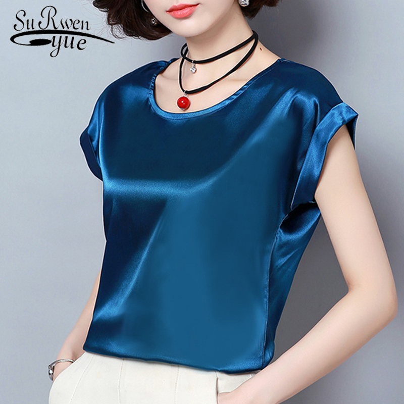 Summer Short Sleeve Plus Size Ladies Tops Feminine Blouses Fashion Woman Blouse 2018 Chiffon Women Blouse Shirt Blusas 0701 30