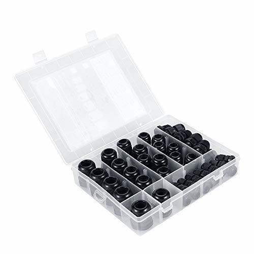 Makerele Wire Cable CE White Black Waterproof Nylon Plastic Cable Gland Connector Cable Gland Kit 45pcs box in Cable Glands from Home Improvement