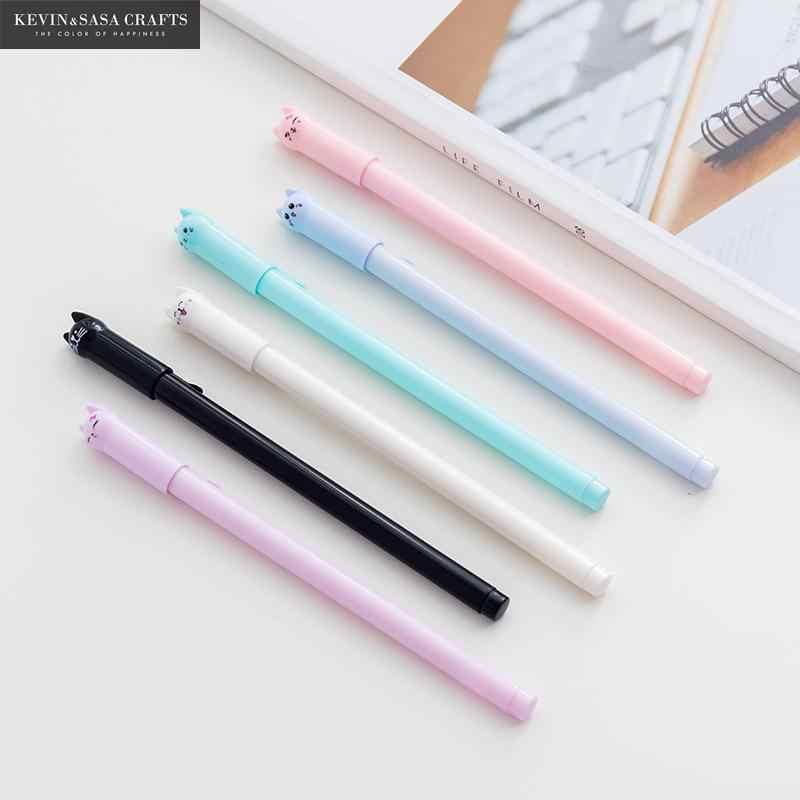 6 sztuk koty długopis żelowy fajne pióro stacjonarne Kawaii szkolne długopis z żelowym wkładem akcesoria szkolne dostawcy biurowi pióro dzieci prezent biuro