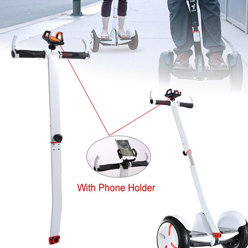 Elétrica Auto-equilíbrio de Scooter Guidão Ajustável Com Suporte Do Telefone Suporte de Montagem T-forma do Punho do Guiador Para Ninebot MINI PRO