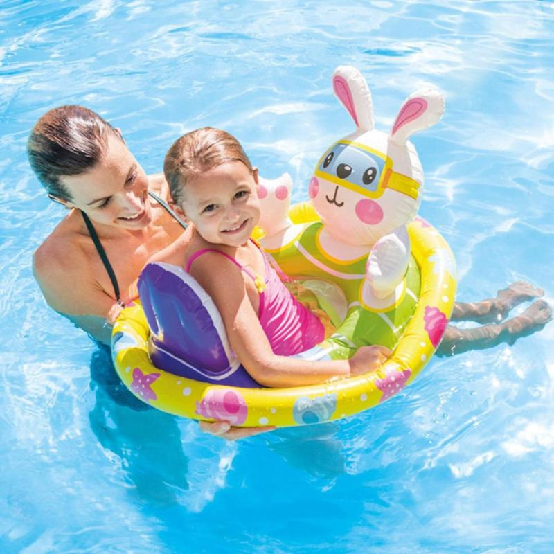 Portable Summer Baby Kids Animal Safety Swimming Ring Inflatable Swim Float Water Fun Pool Toys Swim Ring Seat Boat Water Sport