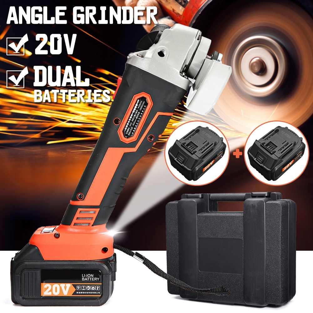 Wireless Electric Angle Grinder Cordless Polisher 30000mah Li ion Battery Hand Cutting Machine Tool 1/2 Battery