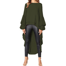 Fashion Women Blouses 2019 Winter Clothes Irregular Ruffles Shirt Long Sleeve Blouse Shirts Female Blusas