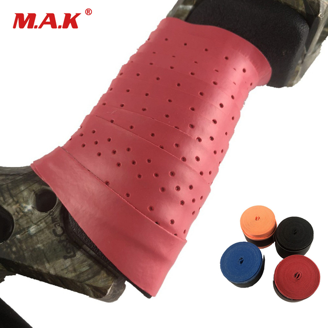 4 Color Bow Riser can Absorb Sweat and Non-Slip Stretchy Handle Grip Tape Band Rope Wrap for Outdoor Archery Hunting Accessories