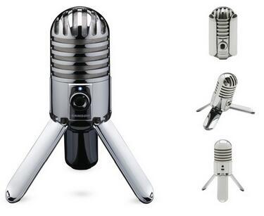 100% Original Samson Meteor Mic Studio Recording Condenser Microphone Foldable Leg with USB Cable Carrying Bag for computer цена и фото