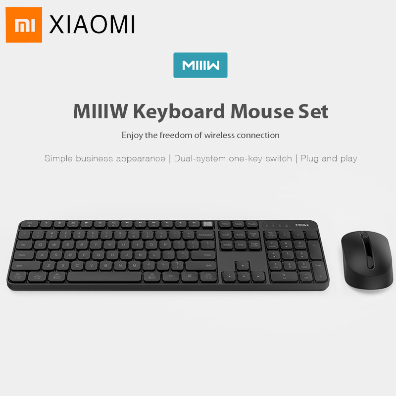 Original Xiaomi Miiiw Bluetooth Keyboard 104 Key 2.4GHz Wireless Wireless Dual Model Portable Keyboard Mouse Set For Windows Mac