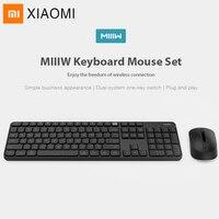 Original Xiaomi Miiiw Bluetooth Keyboard 104 Key 2.4GHz Wireless Wireless Dual Model Portable Keyboard Mouse Set For Windows Mac