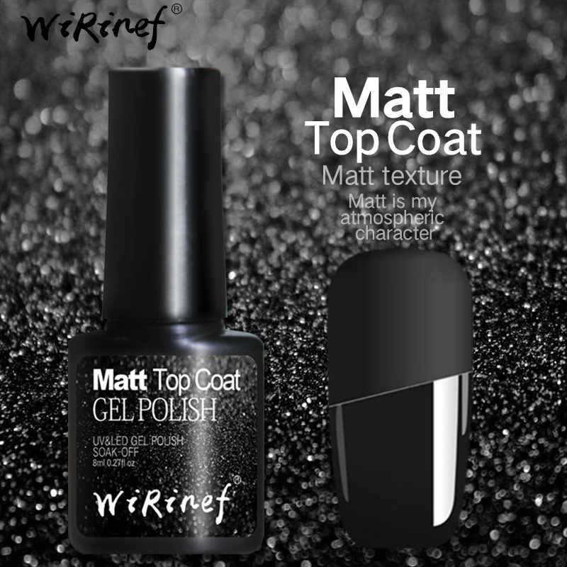 WiRinef Matte Top Coat Gel Nagellak 8 ML/30 ML Langdurige Losweken Transparante Led UV Gels nail Art Mat