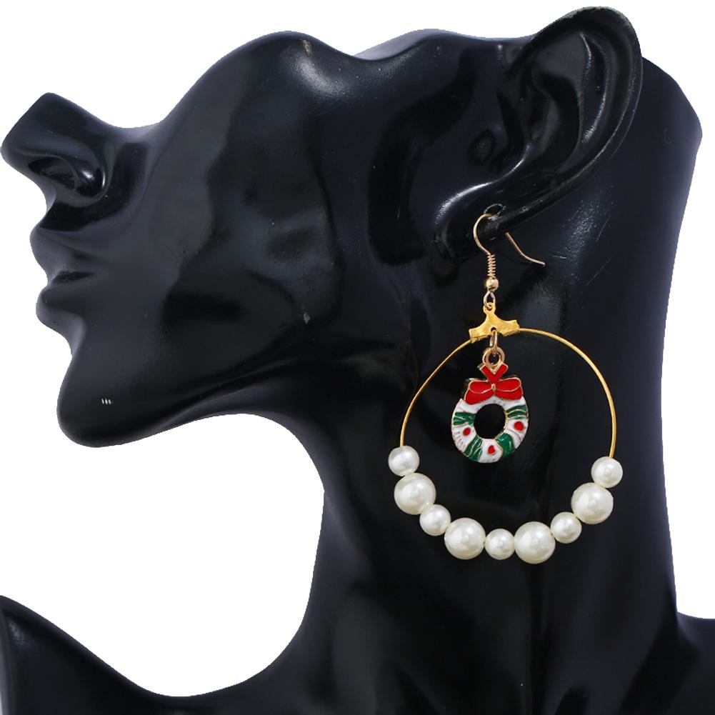 Pearl Garland For Christmas Tree: Women Fashion Garland Christmas Tree Faux Pearls Hook