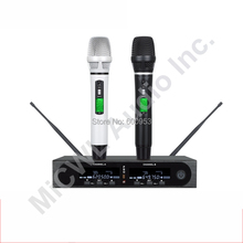 MiCWL Pro SKM9000 2x100 Channel White Black Wireless Microphone System