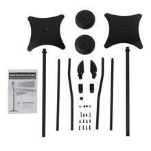 Universal Surround Sound Speaker Stands Set Of 2 Satellite Speaker high quality console aluminum speaker stands s19