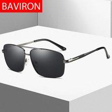 BAVIRON 2019 Óculos De Sol Polarizados Homens Retângulo Homem Designer de Marca  Óculos De Sol Dirigir Óculos de Sol Do Vintage G.. e0ac23f524