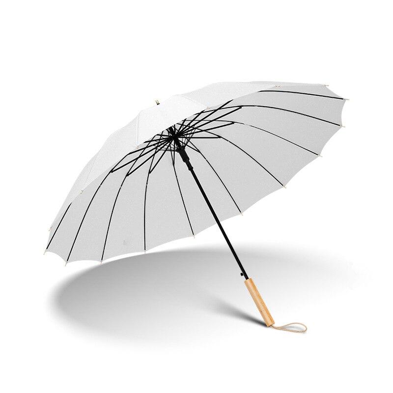 Creative Umbrella Straight Automatic Umbrella Female MORI Series Vintage Curved Handle Returned to the Large Double Rain Or Shin