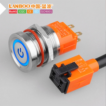 LANBOO 19 мм сенсорный кнопочный переключатель с led светильник concact управление Мягкий сенсорный кнопочный переключатель Индуктивный переключатель водонепроницаемый IP68