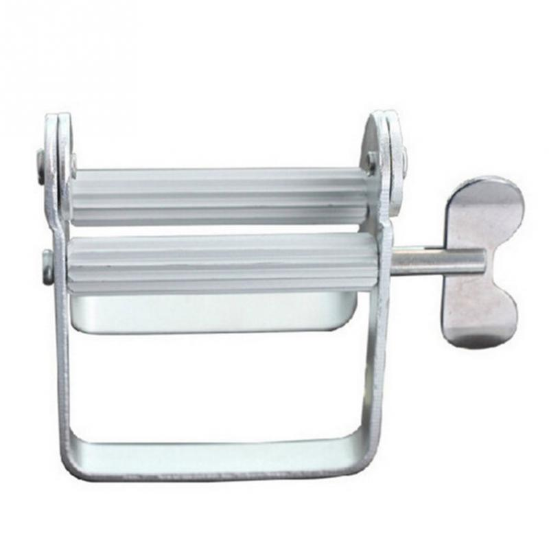 แบบพกพายาสีฟันอลูมิเนียมโลหะผสม Rolling Tube Squeezer ฟันยาสีฟัน Squeezer Dispenser ห้องน้ำ #1026