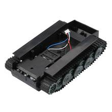 Top Plastic Chassis 2WD Tank Smart Robot Tank Car Chassis Tank Robot Chassis DIY Kit with 130 Motor 2V-8V(China)