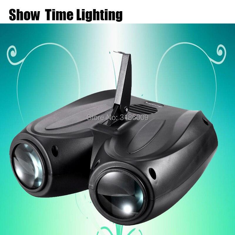 Hot Sale LED 2 Head Airship Dj Led Moon Flower Light Home Entertainment DJ Party Disco Light Sound Work Carton Building Block